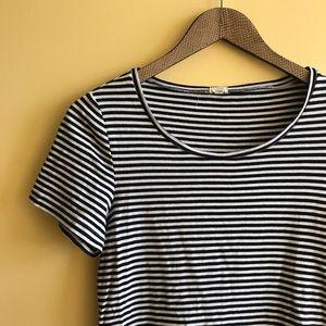 J. Crew navy stripe cotton T-shirt top